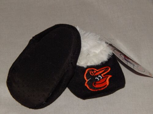 NEW Baltimore Orioles MLB Baseball Slipper Shoes Slip On Socks Booties Baby Size