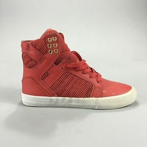 cc9793aa57a Supra Skytop Womens Skate Shoes Trainers new in box Red/Gold/White ...