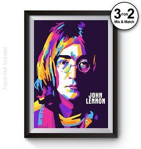 Image Is Loading John Lennon Imagine The Beatles Pop Art Poster