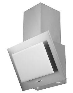 respekta dunstabzugshaube schr ghaube kopffrei edelstahl glas weiss 60 cm led ebay. Black Bedroom Furniture Sets. Home Design Ideas