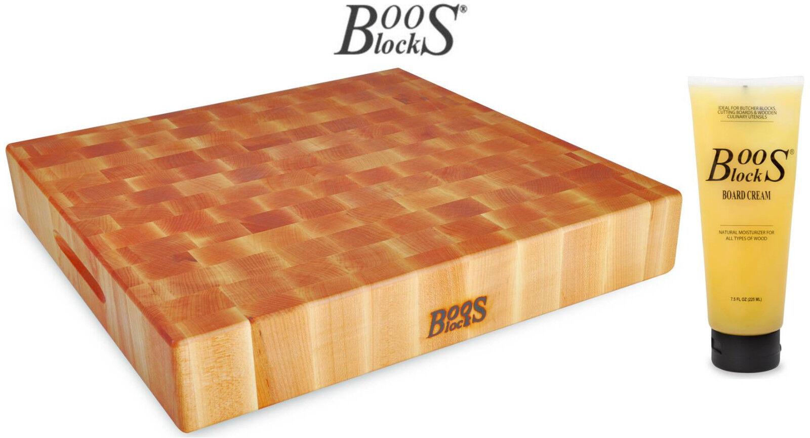 Boos blocco Prep blocco taglio Brett acero 38x38x7,5 cm + Crema per la cura 'bb26