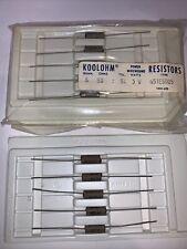 Non Inductive Resistors 50 Ohm 3 Watt 5 New 5 Pack Brand Sprague Koolohm