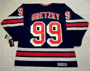 WAYNE GRETZKY size LARGE - New York Rangers CCM Vintage Heroes Of ... a0f1ddd0c
