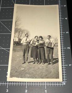 1920s Family Band Ukulele Squeeze Box SHEET MUSIC Guitar Vintage Snapshot PHOTO