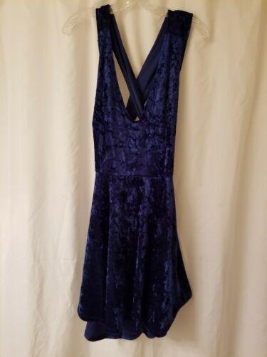 Lulus Blue Velvet Dress Size XL