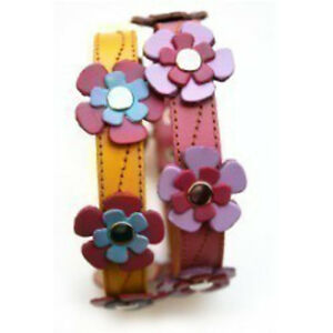 Cool-Leather-Dog-Collar-Flowers-in-Yellow-or-Pink