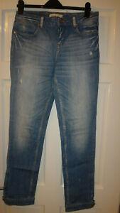 Lovely Karen Millen Distressed Jeans, Size UK 12 US 8, EU 40