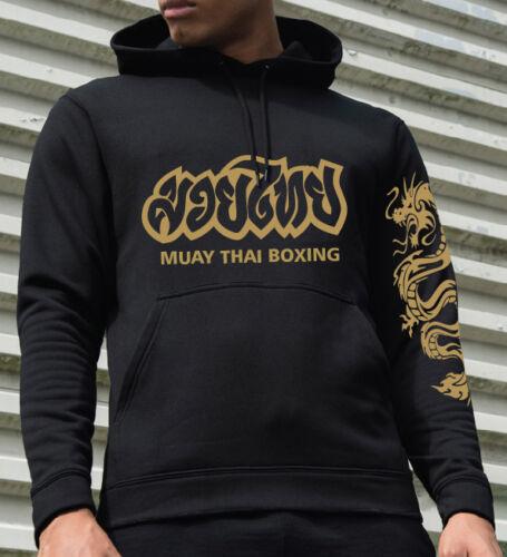 Thai Boxing technical Muay Thai black performance hooded sweatshirt