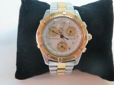 Tag Heuer 2000 Ck1121.chronograph Bb0329 Gold White Professional Watch Mens