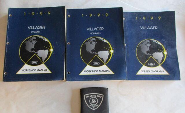 1999 Ford Mercury Villager 2 Volume Service Shop Manuals