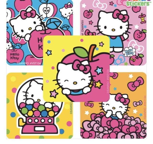 20 Hello Kitty Dream Big STICKERS Party Favors Supplies for Birthday Treat Bags
