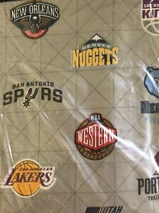 PB-Teen-NBA-Western-Conference-Gray-Full-Flat-Sheet-ONLY-NWOT-NLA