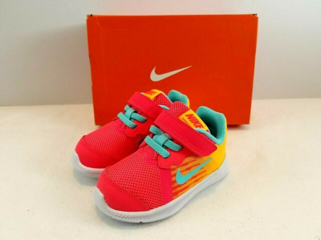 info for 81b4e 9ce49 Nike Downshifter 8 Fade Toddler Baby Sneaker Shoes Solar Red Aurora Size 5c