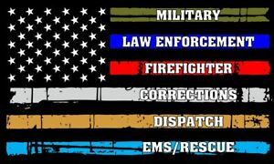 Image result for Military law enforcement firefighter corrections dispatch EMS/rescue flag""