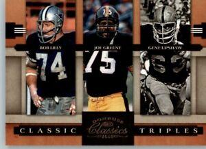 2008 Classics Triples sn: 0717/1000 #CT-4 Bob Lilly, Joe Greene, Gene Upshaw
