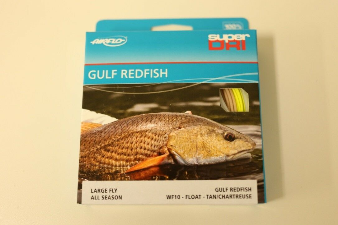 Airflo Gulf ROTfish WF10F Fly Line Tan Chartreuse Free Fast Shipping