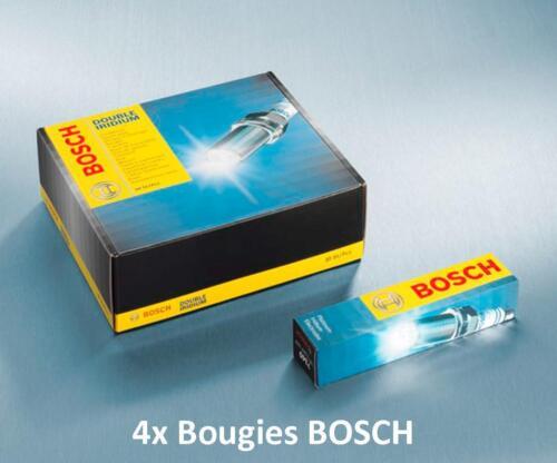 4 Bougies FR7NI332S BOSCH IRIDIUM PEUGEOT 107 1.0 68 CH