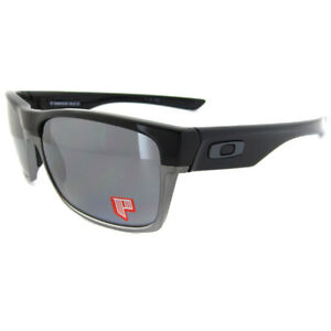 a142f93860 Image is loading Oakley-Sunglasses-TwoFace-Polished-Black-Black-Iridium -Polarized-