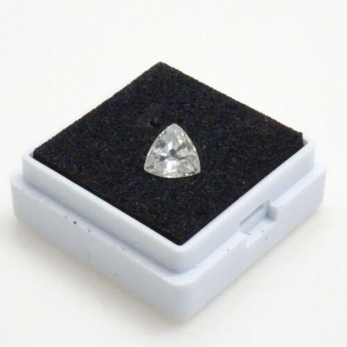 White Zircon 1.30ct White Zircon Loose Gemstone 6.5mm Trillion Beautiful