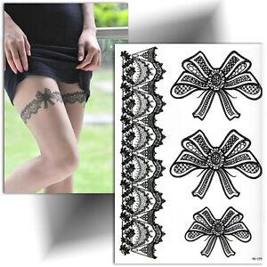 Tatouage Temporaire Noir Jarretiere Dentelle Ephemere Tattoo