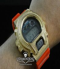 Men's G Shock 6900 Jojino Aqua Master Real Genuine Diamond Watch 0.12Ct Gold G/P