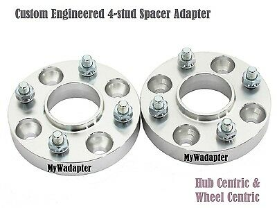 Wheel Spacer Adapters 15 mm Fiat Alft 4x98 To 4x100 Conversion Hub Centric 2 PCS