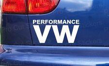150mm 15cm x2 Performance VW Fenster Stoßstange Sticker Aufkleber Volkswagen DUB