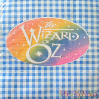 Wizard Of Oz Lunch Napkins (16) Birthday Party Supplies Blue Dorothy Vintage