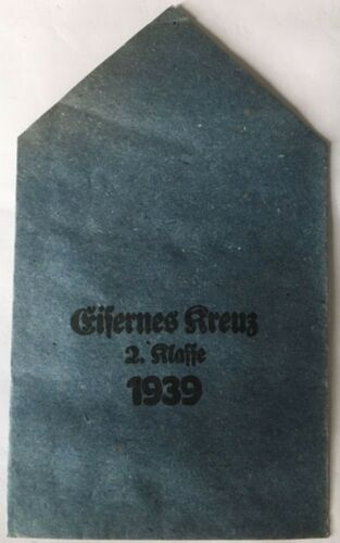 MEDAL GERMAN 1939 IRON CROSS 2ND CLASS PAPER PACKET OF ISSUE ORIGINAL