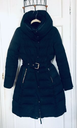 Zara Size Basics Coat Navy L Down rUr6Ffq
