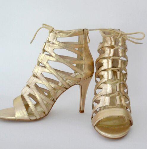 BNIB Womens Nude Opulent Heel Shoes in Platinum