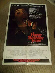 "HAPPY BIRTHDAY TO ME(1981)GLENN FORD ORIGINAL ONE SHEET POSTER 27""BY41"" NICE!"