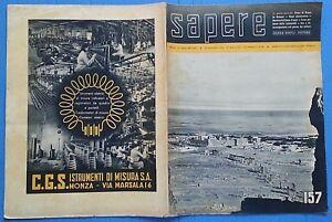 Sapere Quindicinale 1941 N.157 Luglio Foto Sommario 12/17