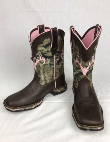 Durango Lady Rebel Mossy Oak Break-up Women's Camo Pink Boots DRD0051 Size 6.5 M
