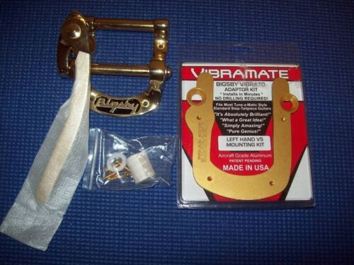 NEW Bigsby USA MADE B5 LEFT-HANDED /& Lefty Vibramate GOLD
