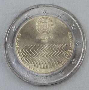 2 Euro Portugal 2008 Droits De L'homme Unz-afficher Le Titre D'origine Excellent Effet De Coussin