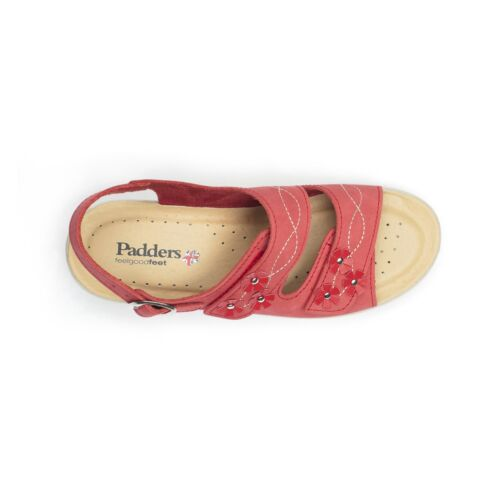 E Fit Padders Bluebell Femme Nubuck Cuir Large Touch Attache Sandales