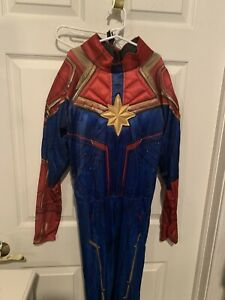 Rubies Captain Marvel Costume Child Size Large Bodysuit Belt Mask Ebay Now, your child can have some kree style when she wears this captain marvel kree costume for kids the costume comes with a black, full body jumpsuit that has closures in the back for fitting. ebay