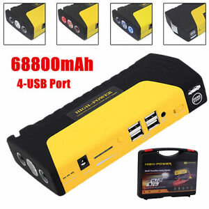 600A 12V 68800mAh 4USB Car Jump Starter Emergency Mobile PC Charger Power Bank V