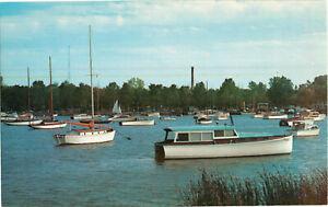 Postcard-Washington-Park-Yacht-Basin-Michigan-City-Indiana