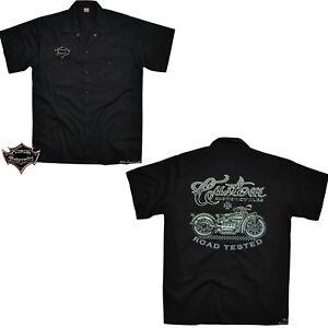 Vintage Moto Motociclista Worker Motivo Auto Maglietta Camicia D'epoca Custom pnxTPA