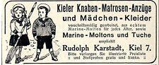 Kieler Knaben-Matrosen-Anzüge & Mädchen-Kleider Historische Annonce 1913