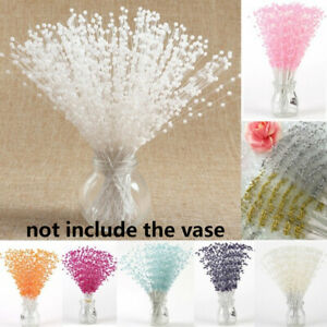 Colors 100 Pearl Sprays Wedding Stem Beads Favor Craft Flower Bouquet Decor