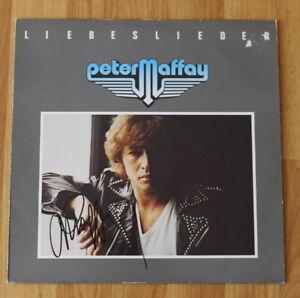 """Pers Liebeslieder Gesammelt Auf Vinyl 12"""" Original Autogramm Von Peter Maffay"""