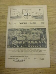03-09-1960-Watford-v-Halifax-Town-Tiny-Marks-Punched-Holes-Footy-Progs-Bobf