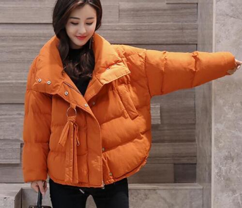 alto Cappotto allentato spessa cotone misto spesso donna corto caldo Colletto esterno Corea wRqw0aC