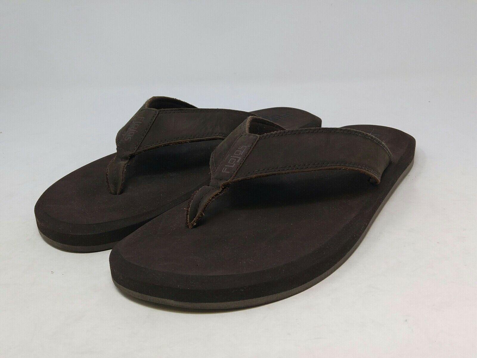 Flojos Men's Brown Sandals 12 US