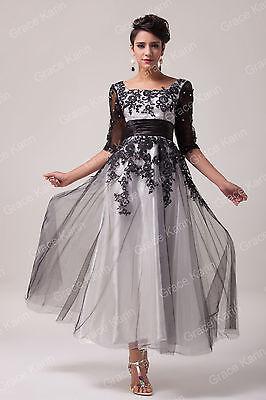 Gr,48/50+ Lang Abendkleid Cocktailkleid Ballkleid Partykleid Brautjungfernkleid