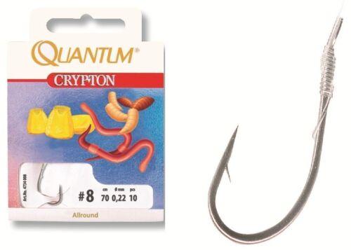 """QUANTUM CRYPTON Vorfachhaken /"""" ALLROUND HAKEN /""""   Farbe schwarz-nickel 70cm"""