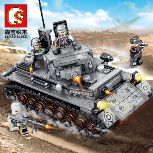 596PCS Baukästen Militär Panzerset Boutique Montage Gehirnspiel SEMBO-101322 OVP